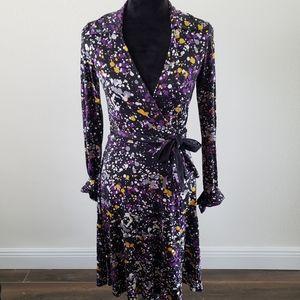 B2G1 Diane Von Furstenberg Splatter Wrap Dress